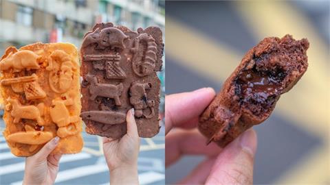 台北信義美食 281雞蛋糕|超欠吃銅板點心!比臉還大「一片式雞蛋糕」,外皮酥脆完全擄獲甜點控的胃!