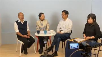 韓國瑜、張善政同框直播 與徐榛蔚暢談花蓮未來