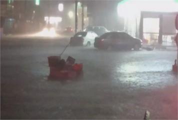 嘉縣朴子東石淹水 時雨量飆破100毫米