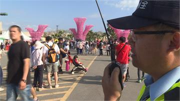 台灣燈會人數破千萬 保全烈日下站崗交管