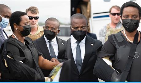 快新聞/海地總統遺孀返抵國門 全身防彈衣戒備