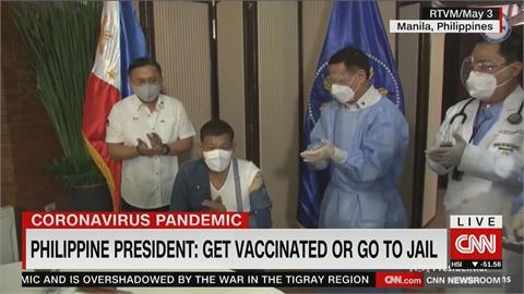 菲律賓接種率太低  總統杜特蒂撂狠話:不打疫苗就抓去關