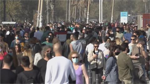 歐洲疫情復燒 民眾沒在怕 德國上街抗議 西班牙海灘開趴