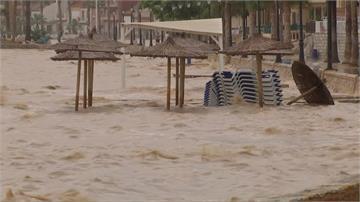 西班牙東南部暴雨成災 洪流滾滾奪5命