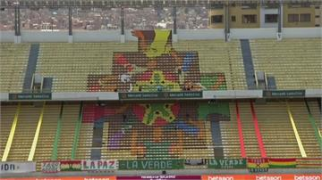 世界盃資格賽閉門踢 藝術家看台彩繪加油