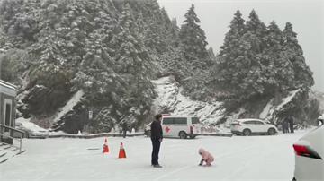 絕美! 入冬最大雪量 合歡山成銀白雪世界