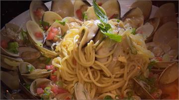 蛤蜊炒油麵新風味!一份40顆蛤蜊霸氣上桌