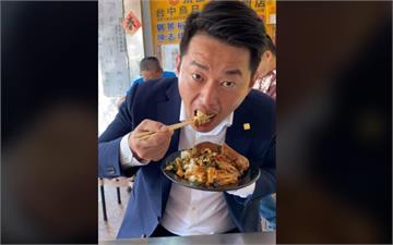 快新聞/陳柏惟豪邁扒爌肉飯 讚嘆「此物只應天上有」:怕你吃完決定搬到烏日