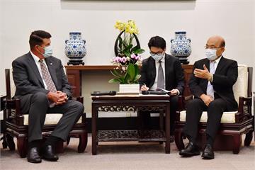 快新聞/接見美國務院次卿柯拉克 蘇貞昌盼雙方多互動「關係更緊密」
