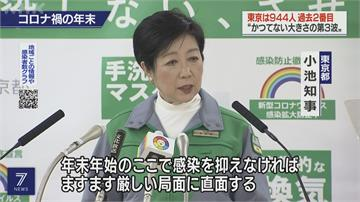 快新聞/一口氣暴增逾1300例 東京都知事:請以性命為優先 在家過新年