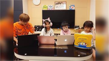 停課不停學/浩子崩潰求安靜 讓孩子在鏡子做畫   阿翔陪孩子陽台偽露營