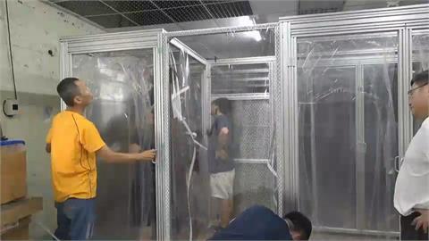 隔離艙可達負壓效果 透明艙體隨時觀察病患
