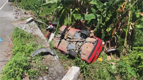水泥工疑打肌肉針後「暈針」 開車失控衝進香蕉園2傷