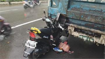 載妻上班遇死劫...騎士自撞路邊貨車亡