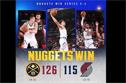 NBA/約基奇36分轟垮拓荒者 金塊急拉尾盤晉級