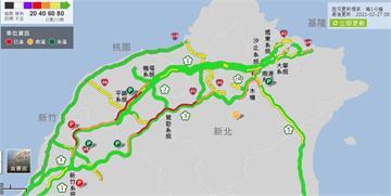 快新聞/塞爆! 國道南下多處湧大量車潮 時速不到40公里