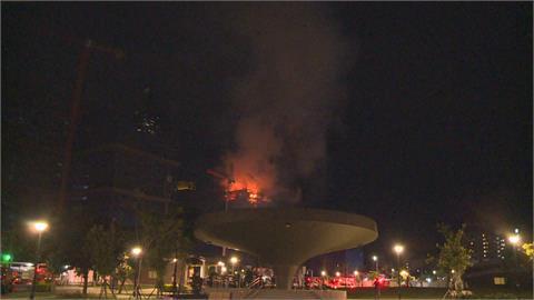 北市信義區公宅建案火警 暗夜10樓陷入火海