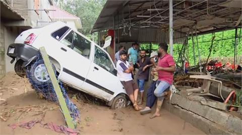 印度南部暴雨侵襲 惡水吞屋26人死亡