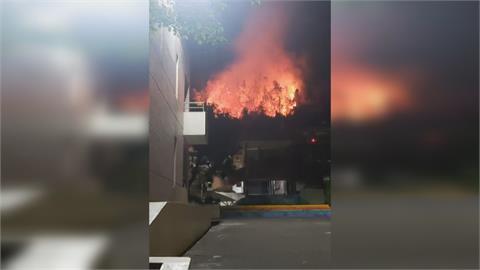 山林火快燒到學校!  魚池國中4月13日緊急停課
