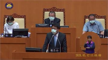 報告時間久說話不便 潘孟安請示議長脫口罩