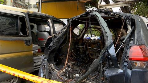 百萬休旅車突自燃 10幾萬現金剩殘骸