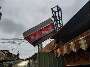 快新聞/颱風天搶修招牌 宜蘭知名肉丸店老闆不慎滑落身亡