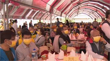 黃氏宗親會席開百桌 贈送每人50片黃色口罩