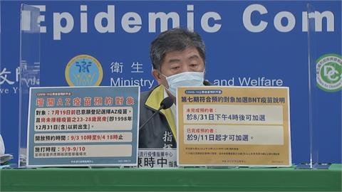 快新聞/第七輪AZ疫苗增開給23-28歲民眾! 9/3早上10時開放預約