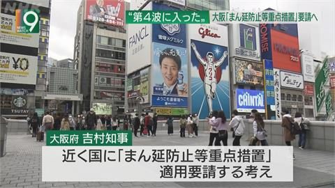 日本大阪日新增432例確診 專家警告:恐進入第四波疫情