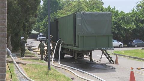 國軍野戰淨水車 進駐岡山本洲產業園區