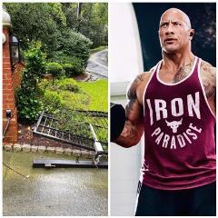 沒人能阻止他上班!巨石強森徒手拆故障鐵門...維修人員到場只剩殘骸