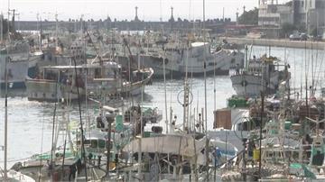 「閃電」逼近! 東港碼頭漁船進港避風雨