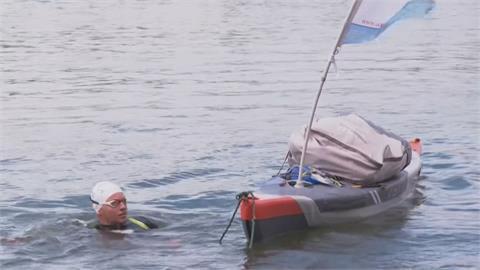 巴黎市長兒子游塞納河29天 籲重視河流汙染