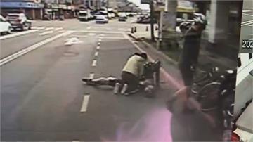 才說「心跳很快」單車男突倒地!路過女騎士 停車做CPR救命