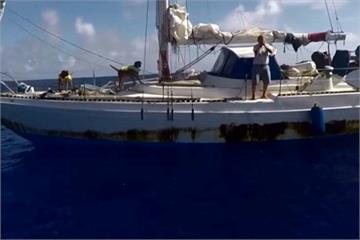 2女2犬海上漂流5個月 台灣漁船通報獲救
