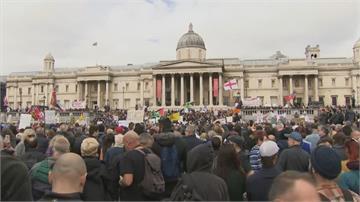 我的身體我的選擇!倫敦民眾抗議防疫封鎖 9警傷16人被捕