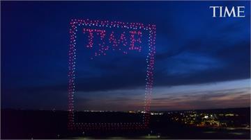 時代雜誌歡度95周年!千架無人機空中拼字超霸氣