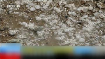 中國甘肅下「冰沙」!當局宣布梅雨季開始