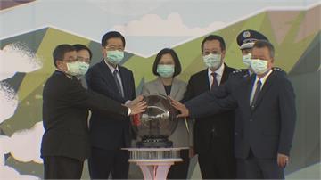 F16維修中心在台成立 蔡總統親揭牌 台航太產業受肯定 產業效益上看2000億元