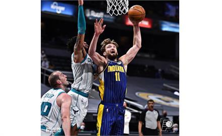 NBA/沙波尼斯準大三元 溜馬踏黃蜂力爭季後賽資格