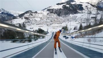 滑雪飆速90公里 完成前翻兩周極限挑戰