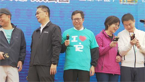 台北科技公益路跑擔任鳴槍嘉賓  鄭文燦跨台北選市長?吳怡農:他是很好的人選