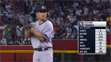 MLB/田中將大4局失3分敗投 洋基遭響尾蛇橫掃