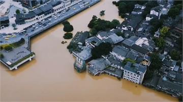 全球/長江上游持續暴雨!四川洪流爆發淹成水都