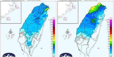 鋒面今晚報到!半個台灣呈現「藍色」 2天降雨時段揭曉