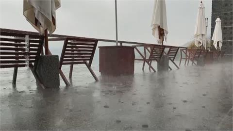 日月潭午後大雨噴發累積雨量逾20毫米 南投人超嗨!