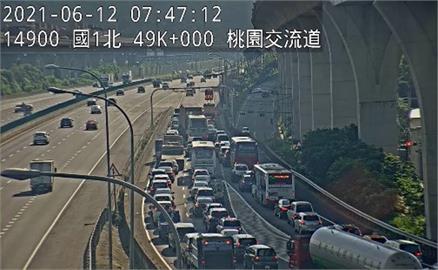 快新聞/端午首日一早國道交通量大減6成7 交流道仍有車流回堵