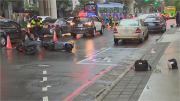 天雨騎士摔車 遭後方2車追撞輾壓傷重不治