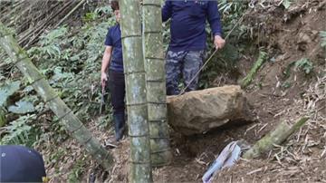 驚! 無風無雨 2百公斤巨石滾落 農婦雙腿慘遭壓斷骨折