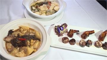 當季綠竹筍+自製酸高麗菜 搭配龍膽石斑美味上桌